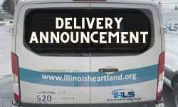 Delivery Announcement (text overlaying IHLS Delivery Van)