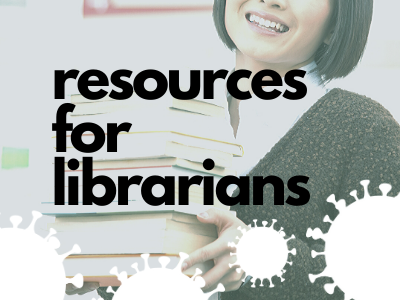 Button: COVID-19 resources for librarians