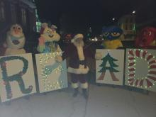 Jerseyville READ letters with Santa and characters