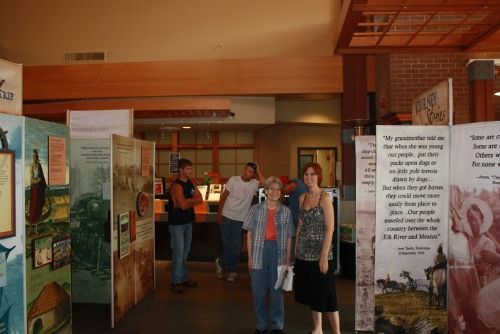 photo of Smithsonian display at Glen Carbon Centennial Library